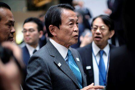 Japanese Finance Minster Taro Aso at the IMF and World Bank Spring Meetings in