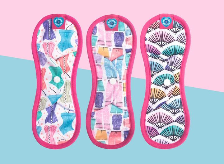 Reusable sanitary pads now for sale on the high street.