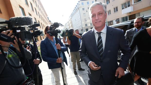 U.S. Special Presidential Envoy for Hostage Affairs Robert C. O'Brien arrives to the district court, during the second day of ASAP Rocky's trial, in Stockholm, Sweden August 1, 2019. TT News Agency/Fredrik Persson via REUTERS   ATTENTION EDITORS - THIS IMAGE WAS PROVIDED BY A THIRD PARTY. SWEDEN OUT. NO COMMERCIAL OR EDITORIAL SALES IN SWEDEN.