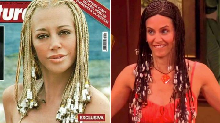 Belén Esteban en la revista 'Lecturas' y Courteney Cox en 'Friends'
