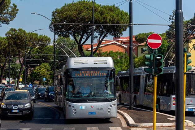 ROME, ITALY - JULY 08: The new corridor of mobility 'Eur Laurentina - Tor Pagnotta a connection with...