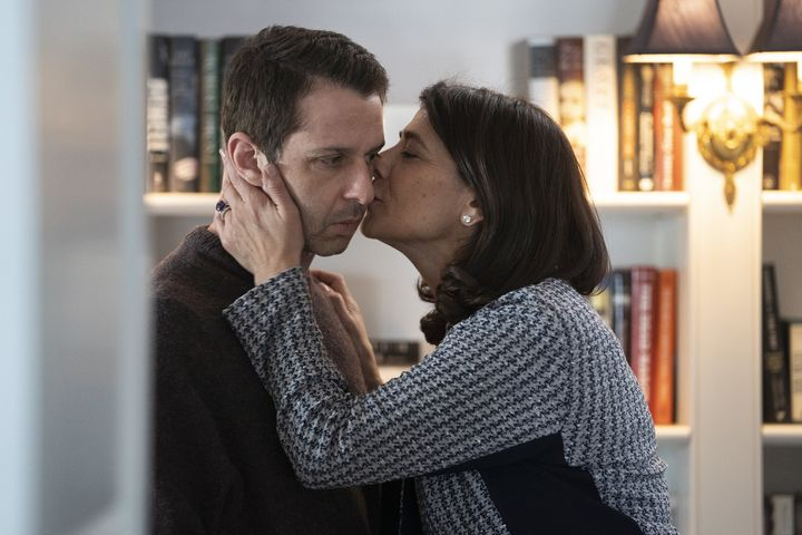 "Jeremy Strong and Hiam Abbass in ""Succession"""