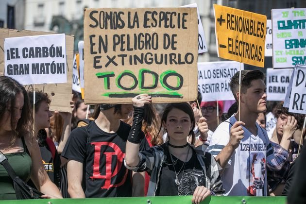 Una manifestación en Madrid contra el cambio