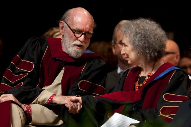 Canadian novelist Graeme Gibson has died at 85. He's pictured here with partner Margaret Atwood after...