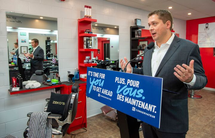 Federal Conservative leader Andrew Scheer speaks at a campaign event in Hamilton, Ont. on Sept. 18, 2019.