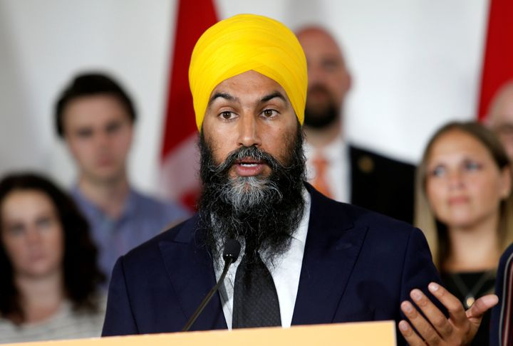 NDP leader Jagmeet Singh launches his election campaign at the Goodwill Centre in London, Ont., on Spet. 11, 2019.