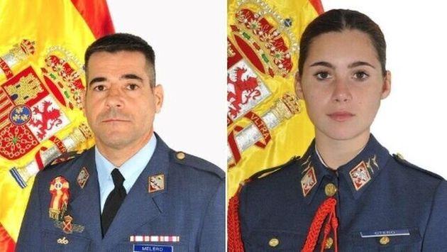 El comandante Daniel Melero y alumna Rosa