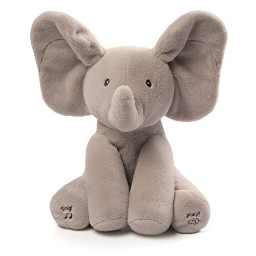 Many readers are buying this GUND stuffed elephant.