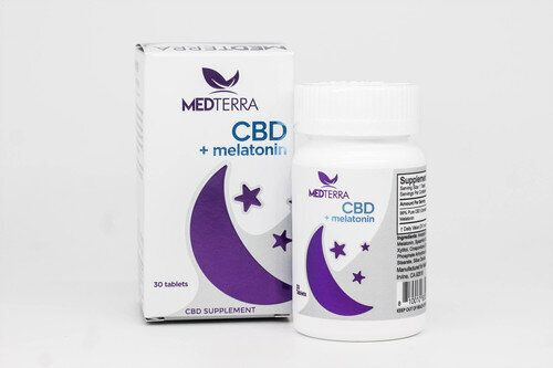 MedTerraCBD include 25 milligrams of CBD and 10 milligrams of melatonin.