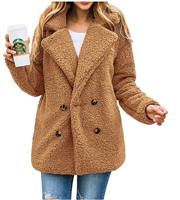 This teddy coat is $32 on Amazon.
