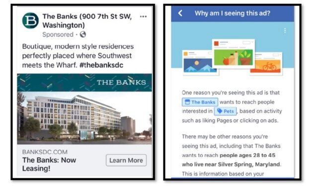 Lawyers allege housing ads like this, which were promoted to Facebook users ages 28 to 45, discriminate against older prospec