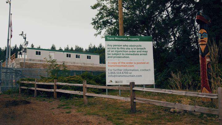 Trans Mountain's tank farm on Burnaby Mountain.
