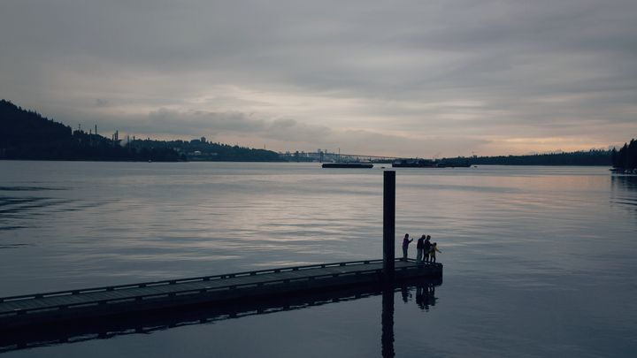 Burrard Inlet is shown in a photo taken from Cates Park.