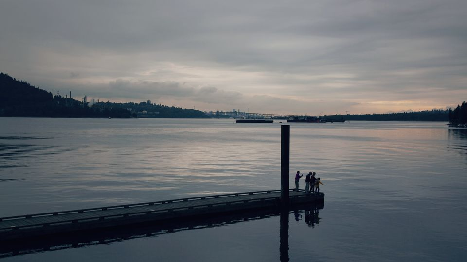 Burrard Inlet is shown in a photo taken from Cates