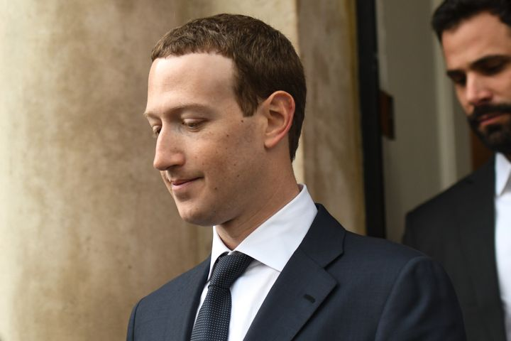 Facebook CEO Mark Zuckerberg in Dublin after an April 2 meeting with Irish politicians to discuss regulation of social media,