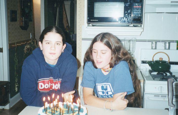 Tegan and Sara on their 17th birthday.