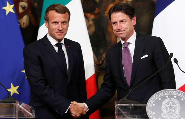Emmanuel Macron et Giuseppe Conte, le 18 septembre à Rome, se sont mis d'accord sur