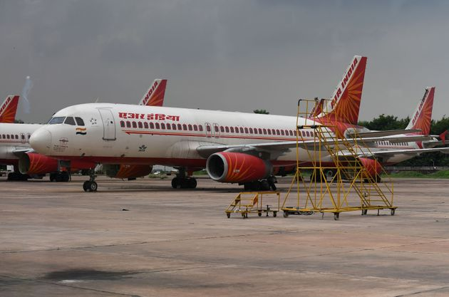 Air India planes at Indira Gandhi International Airport in New