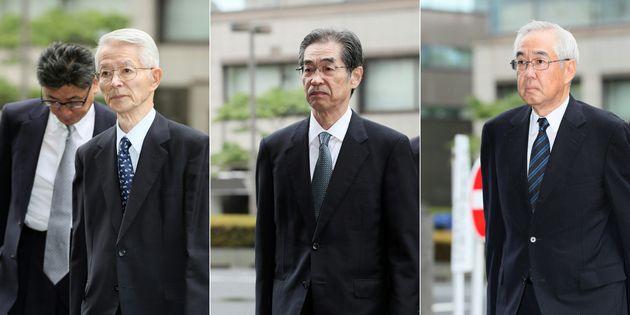 Tsunehisa Katsumata, Ichiro Takekuro et Sakae Muto, trois ex-responsables de