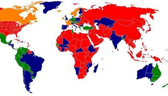 Ο παγκόσμιος χάρτης της