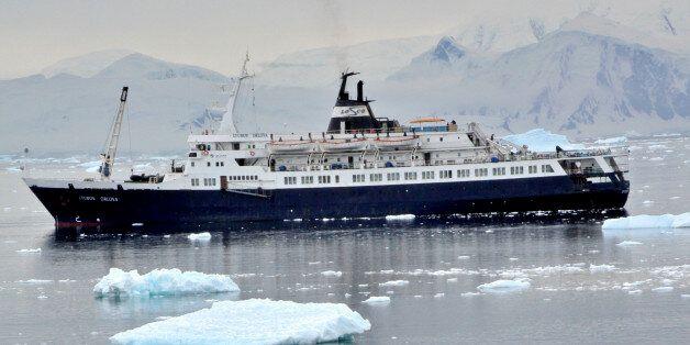 [UNVERIFIED CONTENT] penguin rookery in Neko harbour.Antarctic peninsula cruise aboard the Lyubov Orlova,...