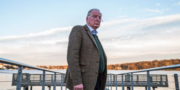 Alexander Gauland, co-leader of the far right 'Alternative for Germany' party (AfD), poses prior to an...