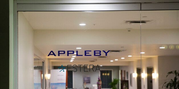 HAMILTON, BERMUDA - NOVEMBER 8: A view into the lobby of the building that houses the Appleby law firm...
