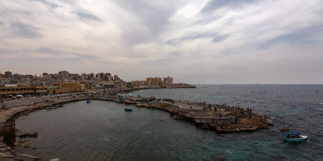 ALEXANDRIA, EGYPT - MAY 21: A general view looking out over the Mediterranean Sea from the coastline...