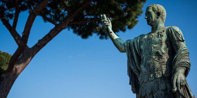 rome italy - statue Julius