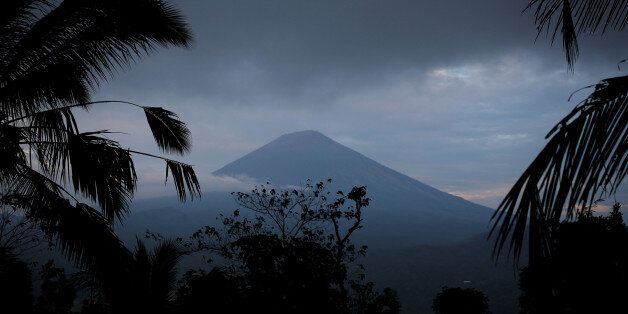 A view of Mount Agung, a volcano on the highest alert level, from Karangasem Regency, on the resort island...