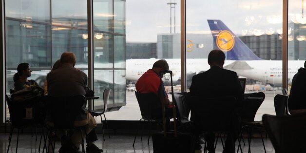 Frankfurt: Passengers are wating of a flight in Frankfurt international airport,