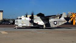 Αεροπλάνο του αμερικανικού πολεμικού ναυτικού έπεσε στη θάλασσα στα ανοιχτά της