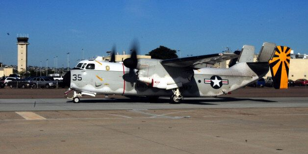 SAN DIEGO - NOVEMBER 9: In this photo provided by the U.S. Navy, A C-2A Greyhound from Fleet Logistics...