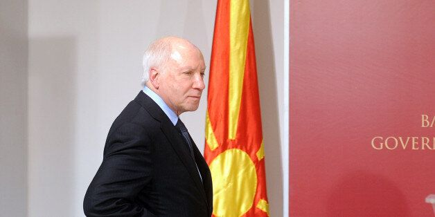 UN chief mediator for the Macedonia-Greece negotiations on the name dispute, Matthew Nimetz, arrives...