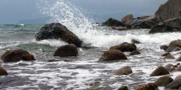 CRIMEA, RUSSIA NOVEMBER 11, 2017: Rocks on the Black Sea coast. Sergei Malgavko/TASS (Photo by Sergei...