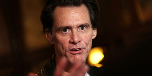 TORONTO, ON - SEPTEMBER 11: Actor/comedian Jim Carrey speaks to the media at the premiere of 'Jim & Andy:...