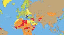 Ένας νέος χάρτης αποκαλύπτει τα πιο επικίνδυνα μέρη στον κόσμο από άποψη υγείας, σωματικής και οδικής