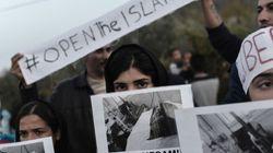 Κατάληψη στα γραφεία του ΣΥΡΙΖΑ στη Λέσβο από Αφγανούς