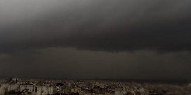Η καταιγίδα που έπληξε την Αθήνα σε ένα εντυπωσιακό timelapse