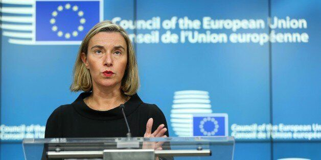 BRUSSELS, BELGIUM - NOVEMBER 16: High Representative of the European Union (EU) for Foreign Affairs and...
