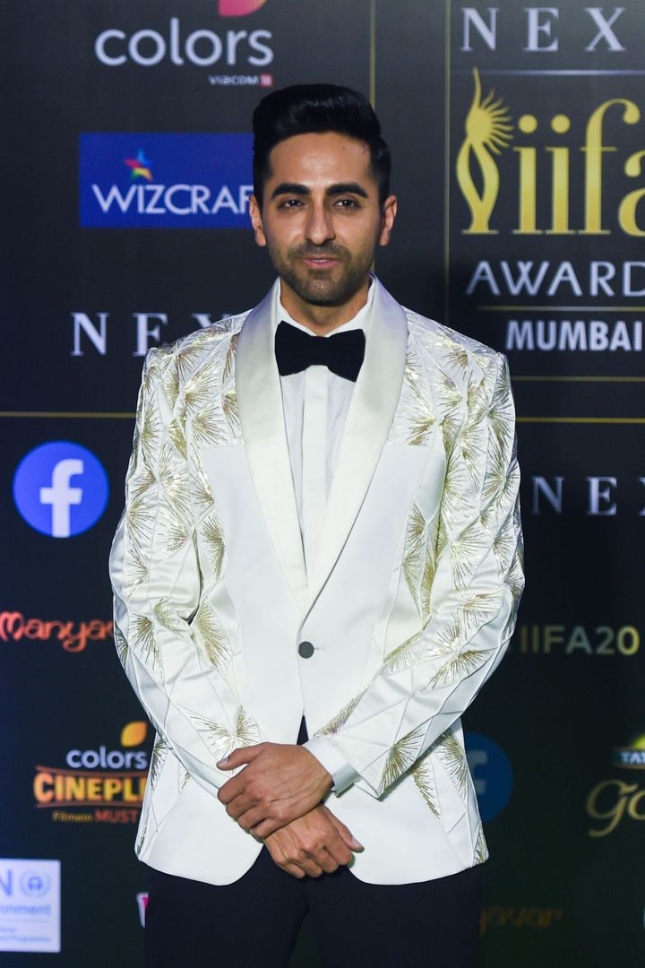Ayushmann Khurrana arrives for IIFA Awards.