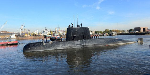 The Argentine military submarine ARA San Juan and crew are seen leaving the port of Buenos Aires, Argentina...