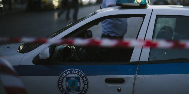 Athens, Greece - July 2, 2015: Police car securing roads because of marches and protests due to the Greek...