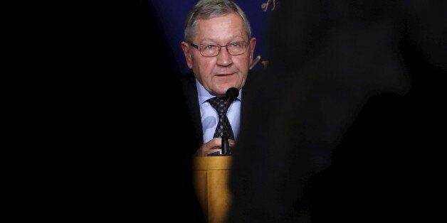 European Stability Mechanism Managing Director Klaus Regling speaks during a news conference at the Foreign...
