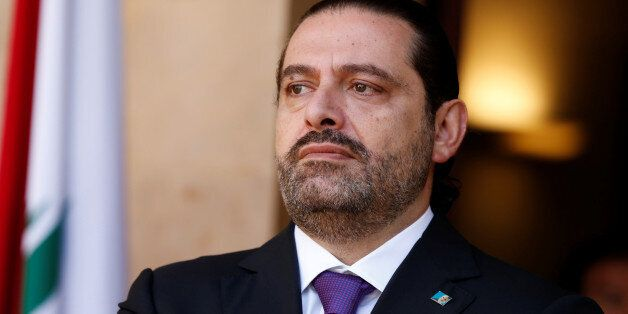 Lebanon's Prime Minister Saad al-Hariri is seen at the governmental palace in Beirut, Lebanon October...