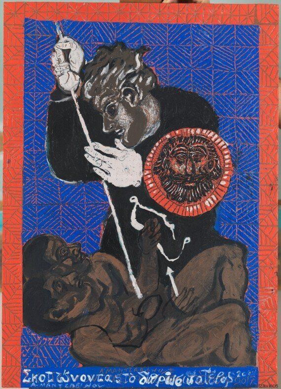 Παίζουμε φιδάκι; Στη νέα του έκθεση ο Τάσος Μαντζαβινός «διασκεδάζει» τη μοναξιά μέσα από το