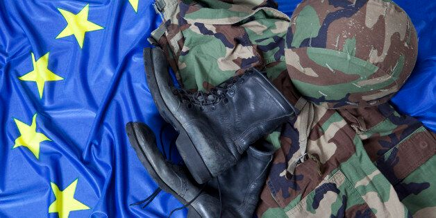 Military uniform and boots on European Union