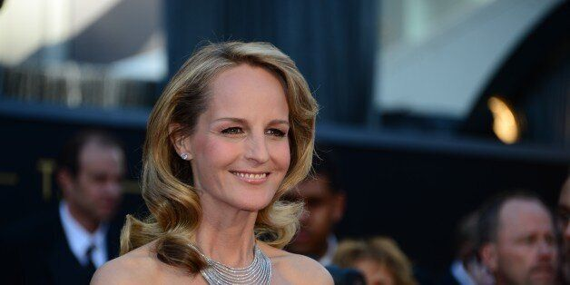 Actress Helen Hunt arrives on the red carpet for the 85th Annual Academy Awards on February 24, 2013...