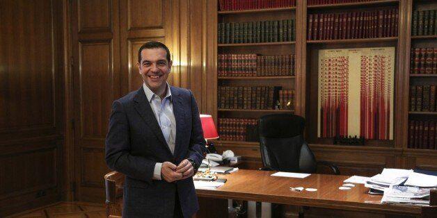 MAXIMOU MANSION, ATHENS, ATTIKI, GREECE - 2017/10/23: Greek Prime Minister Alexis Tsipras during the...