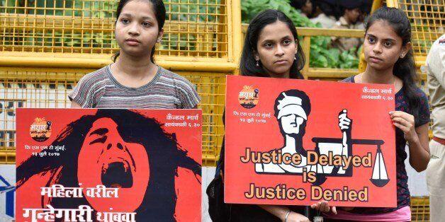 MUMBAI, INDIA - JULY 13: Maratha Kranti Morcha activists paying tribute to victim girl of Kopardi incident...